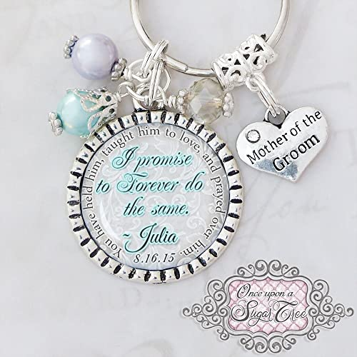 Amazoncom Mother of the Groom Gifts Wedding Key chain or Necklace