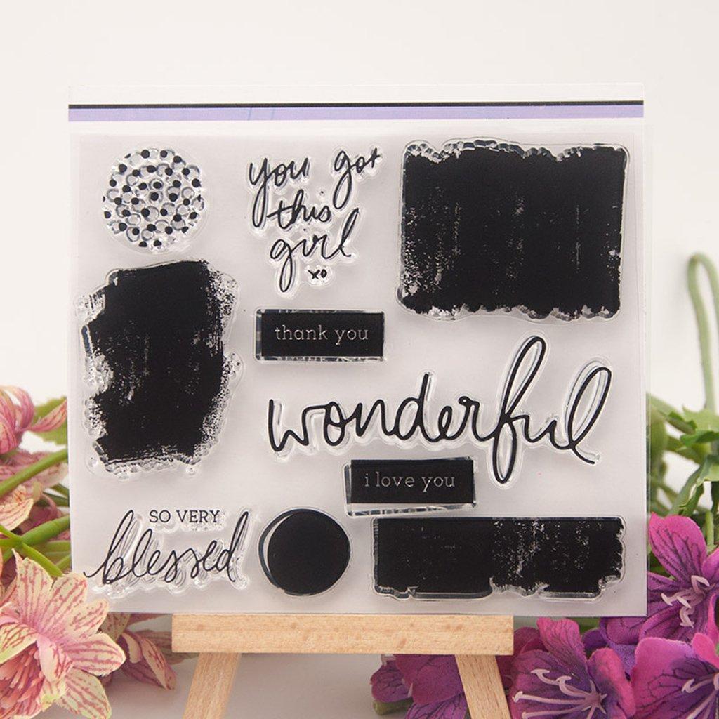 KOFUN DIY Scrapbooking Transparente Stempel Silikon Gummi Klar Blatt DIY Karte Geschenk Handwerk