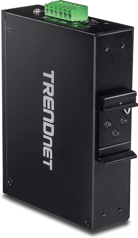 TRENDnet 6-Port Hardened Industrial Gigabit PoE+ DIN-Rail Switch,TI-PG62,4 x Gigabit PoE+ Ports Renewed 120 W Power Budget 1 x Dedicated SFP 1 x Shared Gigabit Port RJ-45//SFP IP30,