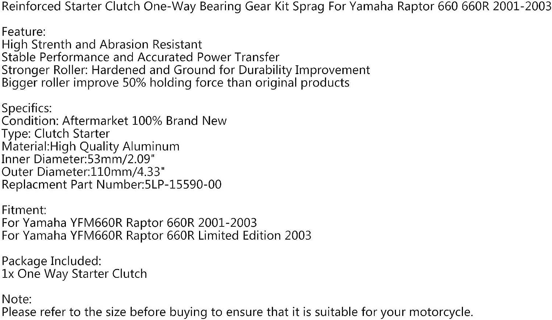 Topteng Teniendo embrague del arranque unidireccional por Yama-ha Raptor 660 2001-2003 5LP-15590-00-00
