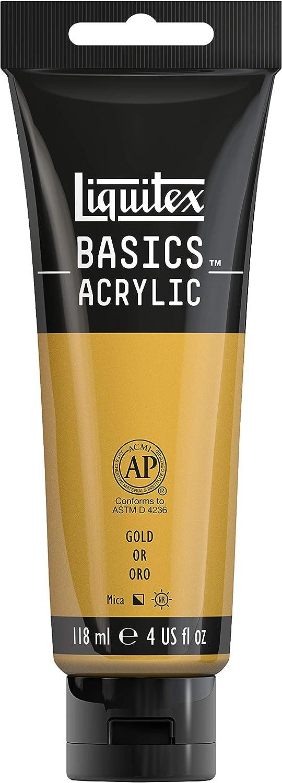 Liquitex BASICS Acrylic Paint, 4-oz tube, Gold