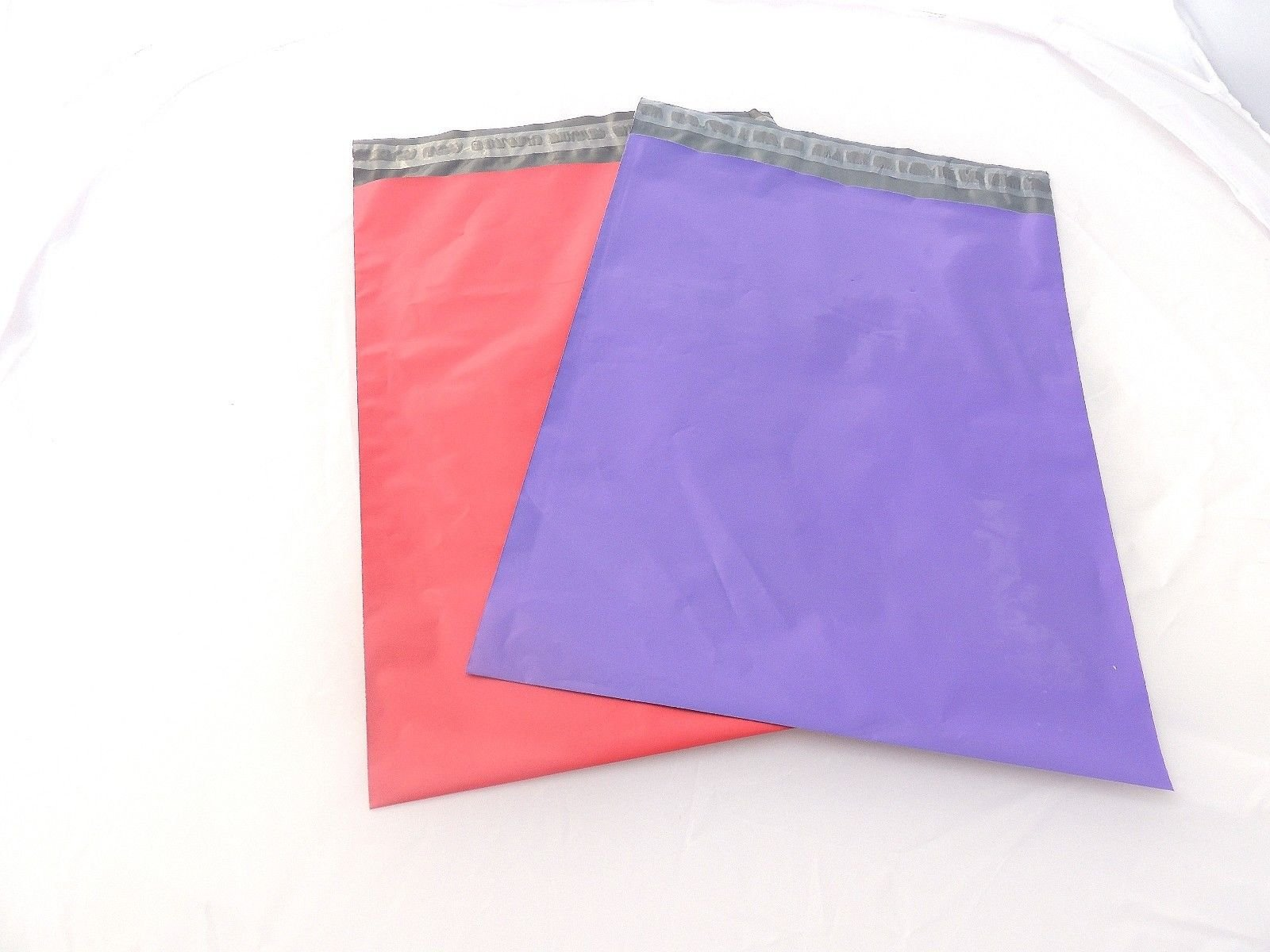 100 -12x15'' Assorted Pink & Purple Flat Poly Postal Mailer Bags