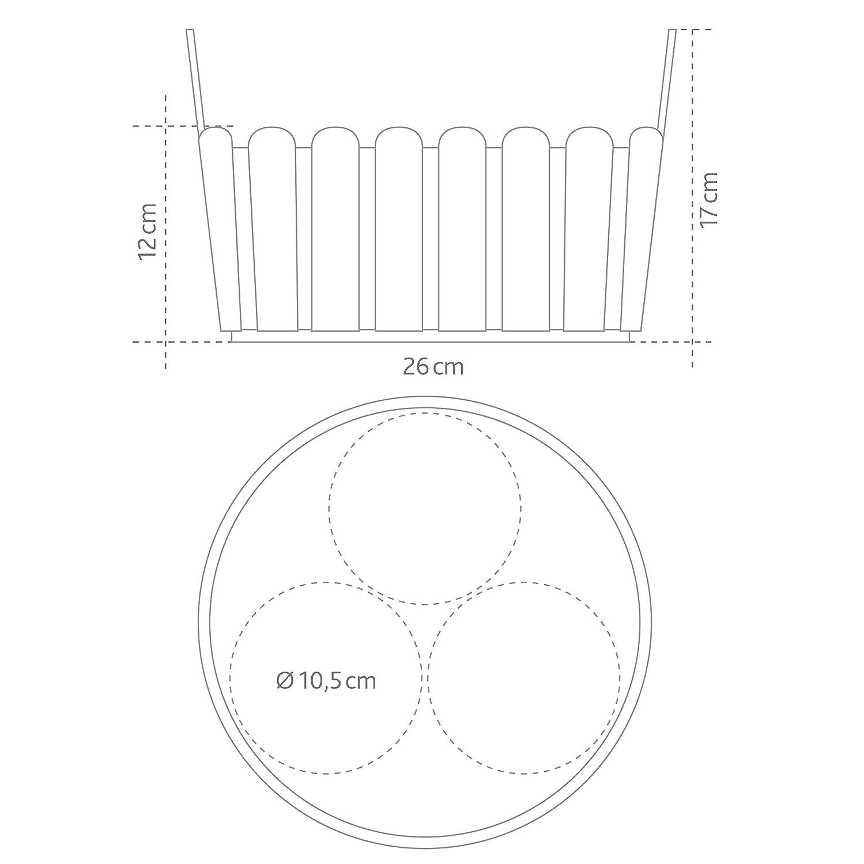 Emsa Landhaus Ciotola Fiori Giallo 26x25x17 cm