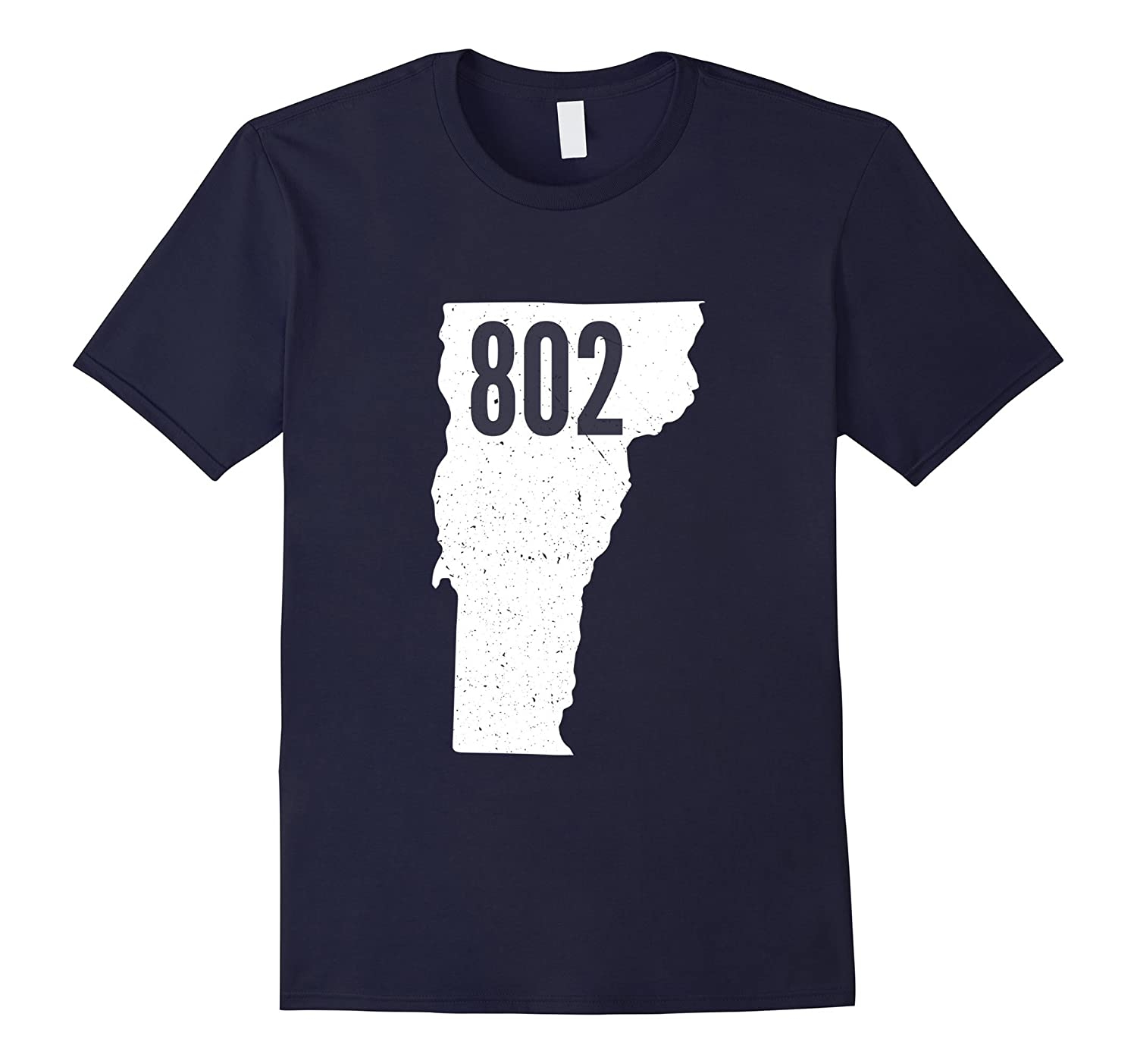 802 Vermont Area Code Pride State Outline T-Shirt-TH