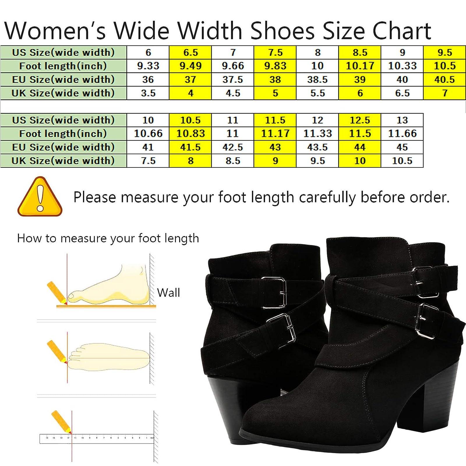 Luoika Women's Wide Width Ankle Boots - Black 10 XW US - 1