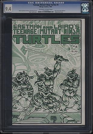 Amazon.com: Teenage Mutant Ninja Turtles #4 CGC 9.4 OW to WP ...
