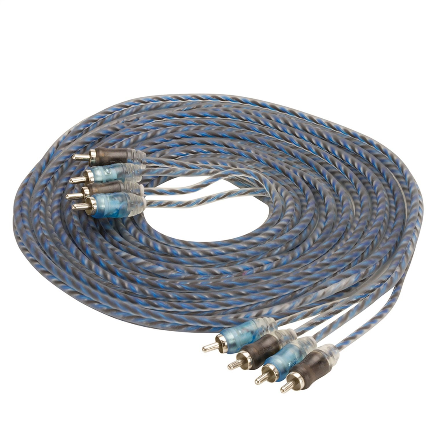 SCOSCHE EFXRP412 12' Performance Series 4-Channel Twisted RCA Cable