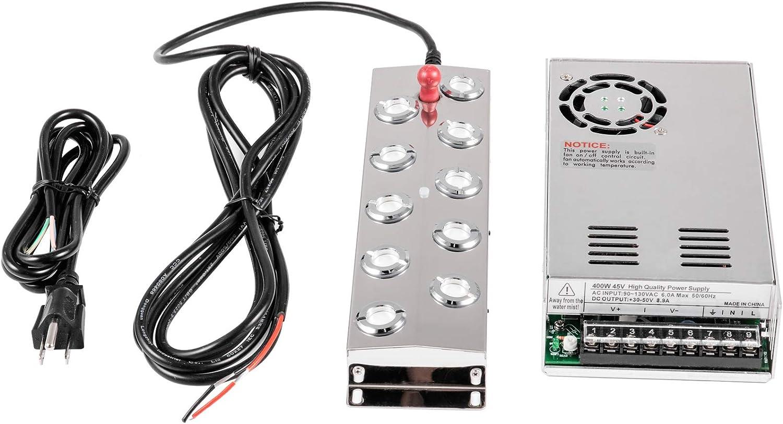 6 head Ultrasonic Mist Maker Waterproof Transformer 200W 110V Fogger Humidifier