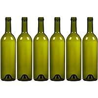 Paquete de 6botellas de vino botellas de vidrio–vacío