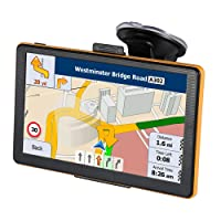 7 Inches Sat Nav Car Truck GPS Navigation with Touchscreen Include UK & EU Latest Maps and Lifetime Map Updates