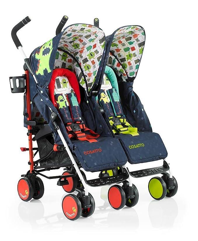 Cosatto Supa Dupa cochecito de bebé doble (Monster Arcade): Amazon.es: Bebé