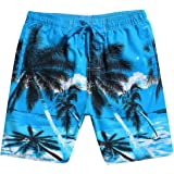 omniscient Men's Coconut Tree Print Boardshorts Swimming Trunks