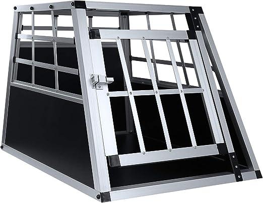 Beimi Caja de Aluminio para Perros Caja de Transporte para Perros Caja de Aluminio Aleación de Aluminio Perro de Viaje Nido de aleación de Aluminio: Amazon.es: Hogar