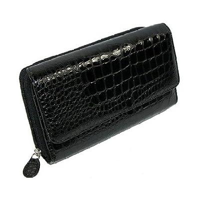 Amazon.com: Mundi negro Croc My Big Fat Wallet organizador ...