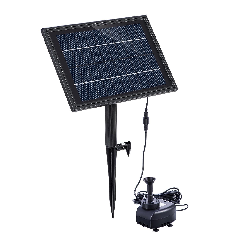 Lewisia batterie de secours solar fontaine pompe avec led pour l'éclairage d'oiseau bain piscine garden pond submersible pompe solaire kit 5w