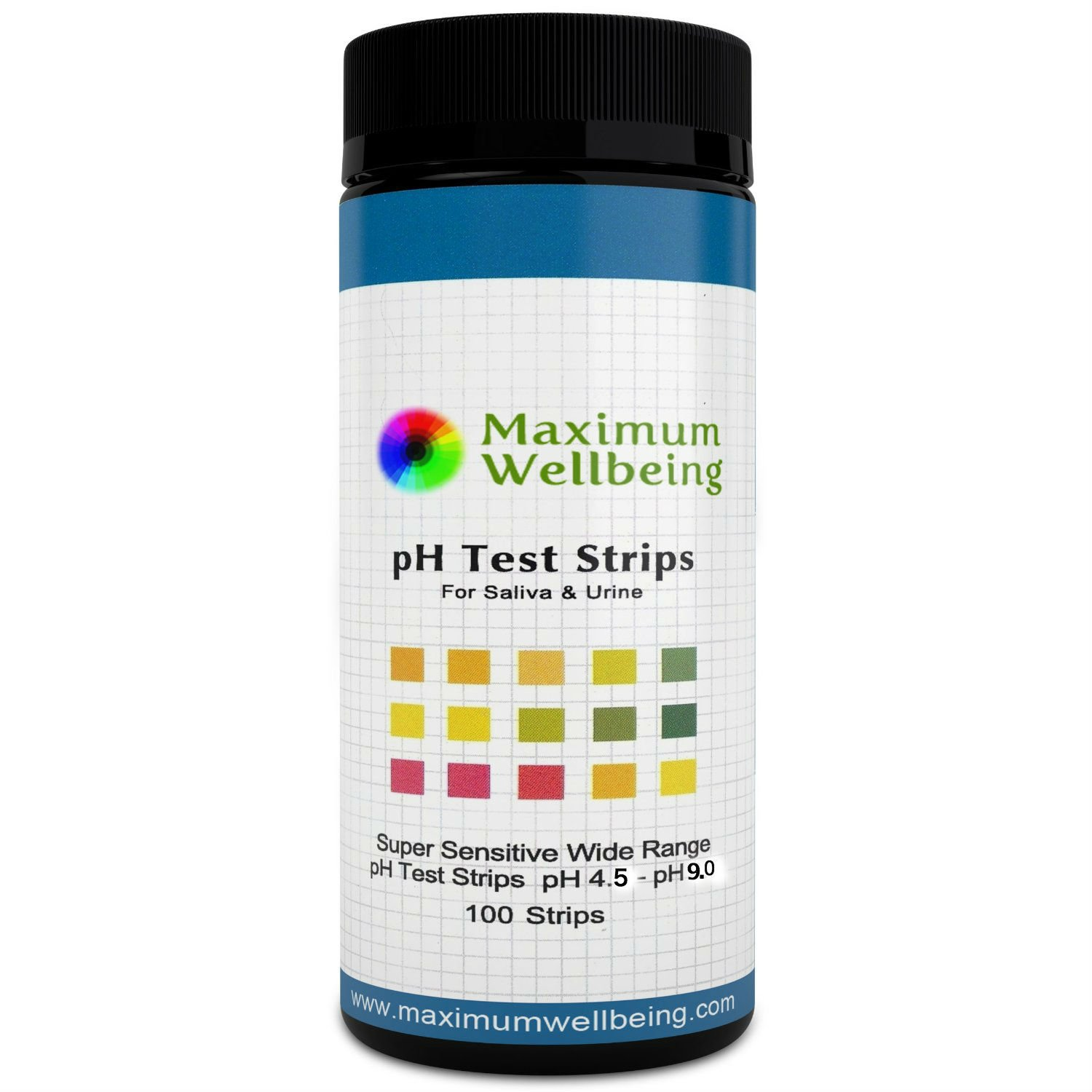 The Original Premium Quality Ph Test Strips for Urine and Saliva. A Fast, Accurate Way to Test Your Body Acid Alkaline Balance. More Accurate Than Litmus Paper or Ph Paper. by Maximum Wellbeing