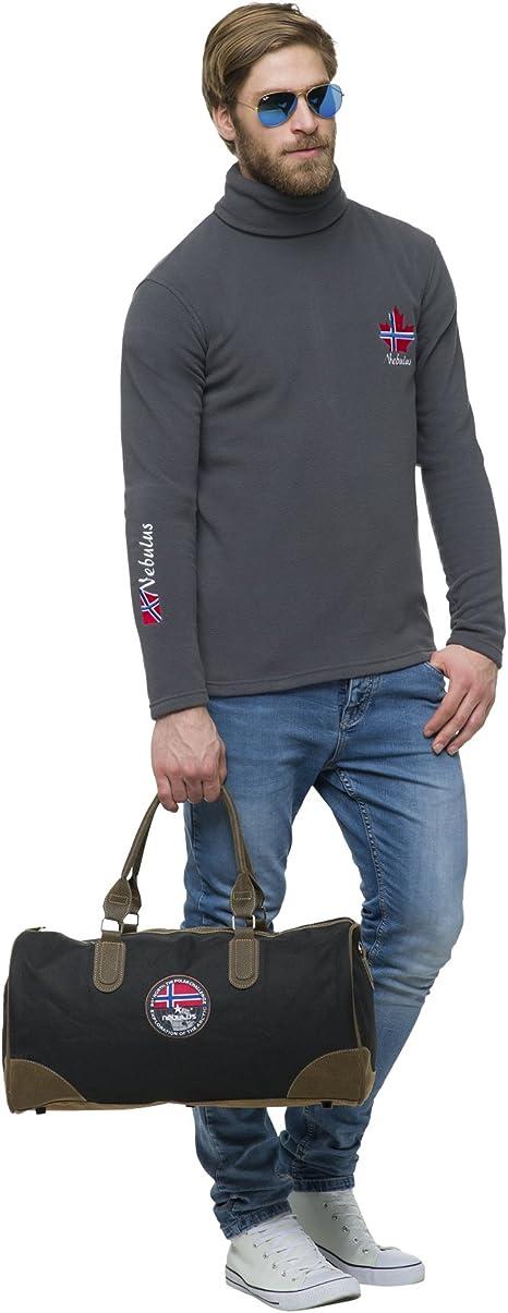 Nebulus Mannen Fleece Rolkraag Pullover Irving: Amazon.nl