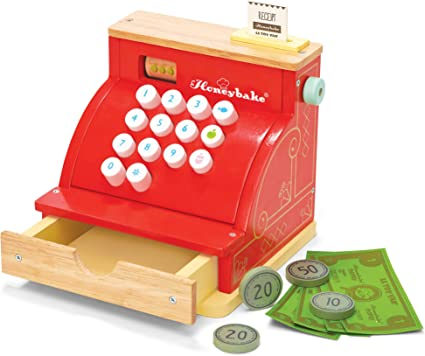 Honeybake Le Toy Van Tv295 Red Madera Caja registradora: Amazon.es: Juguetes y juegos