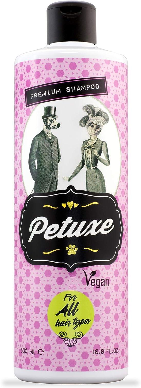 Petuxe 00231 Champú Perros y Mascotas Vegano, Todo Tipo de Pelo, 500 Milliliter