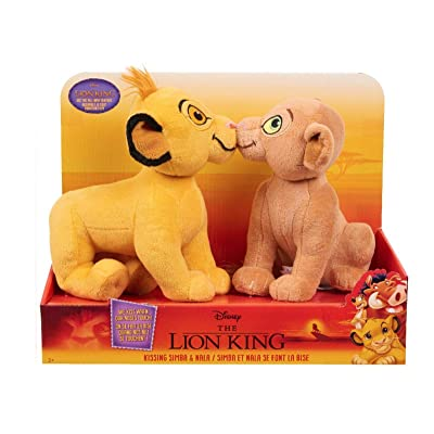 Disney The Lion King Kissing Plush - Simba & Nala: Toys & Games