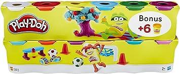 Play Doh - Pack 6+6 Botes de plastilina (Hasbro B6751EU4): Amazon.es: Juguetes y juegos