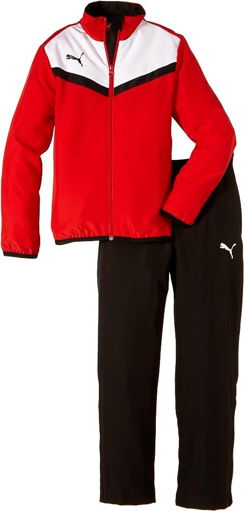 Puma 654410 01 - Chándal para niños, color rojo - blanco, talla ...