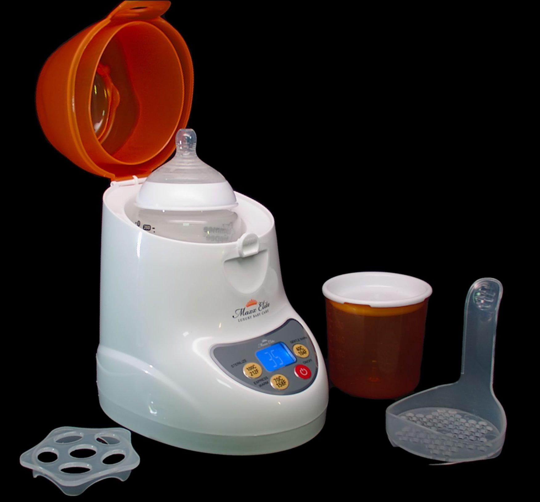Maxx Elite ''Digital Gentle Warm'' Bottle Warmer & Sterilizer w/''Steady Warm'' and LCD Display (Orange) by Maxx Elite (Image #5)
