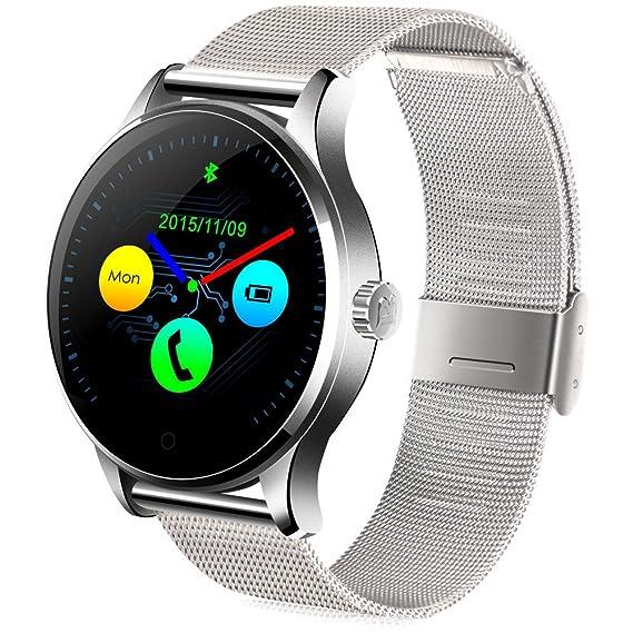 GBlife Bluetooth 4.0 Reloj Inteligente, Smartwatch con Pantalla HD IPS, Monitor de Ritmo Cardíaco/ Podómetro/ Monitor de Sueño/ Recordatorio ...