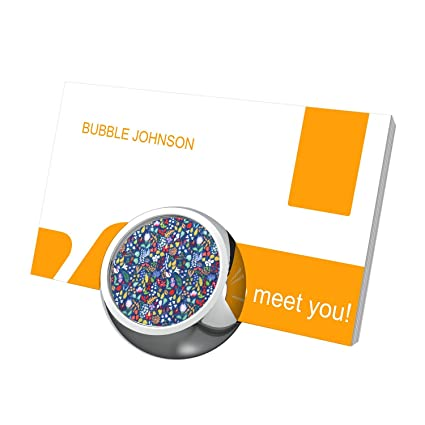 Amazon Com Penard Navy Floral Business Card Stand Metal Business