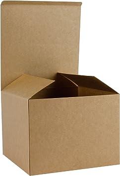 RUSPEPA Cajas De Regalo De Cartón Reciclado - Caja De Regalo Decorativa Mediana con Tapas para Regalos Y Cupcake - 20.5X20.5X15.5 Cm - 10 Paquetes-Kraft: Amazon.es: Juguetes y juegos