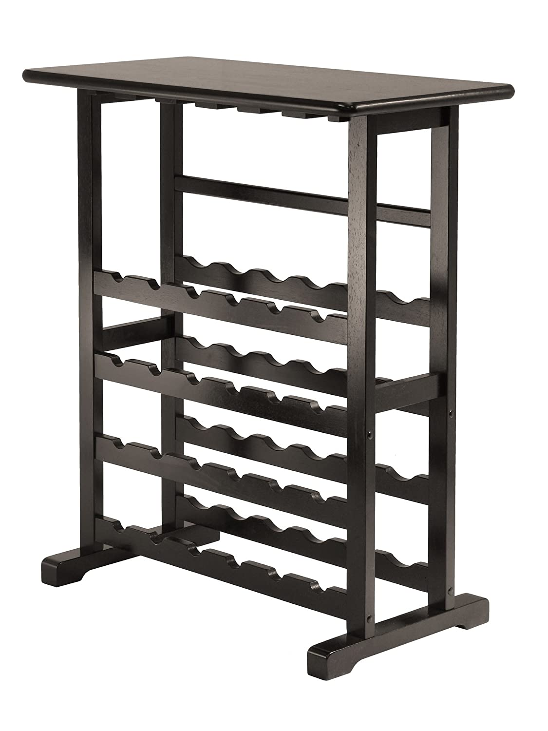 Amazon Winsome Vinny Wine Rack 24 Bottle With Glass Hanger