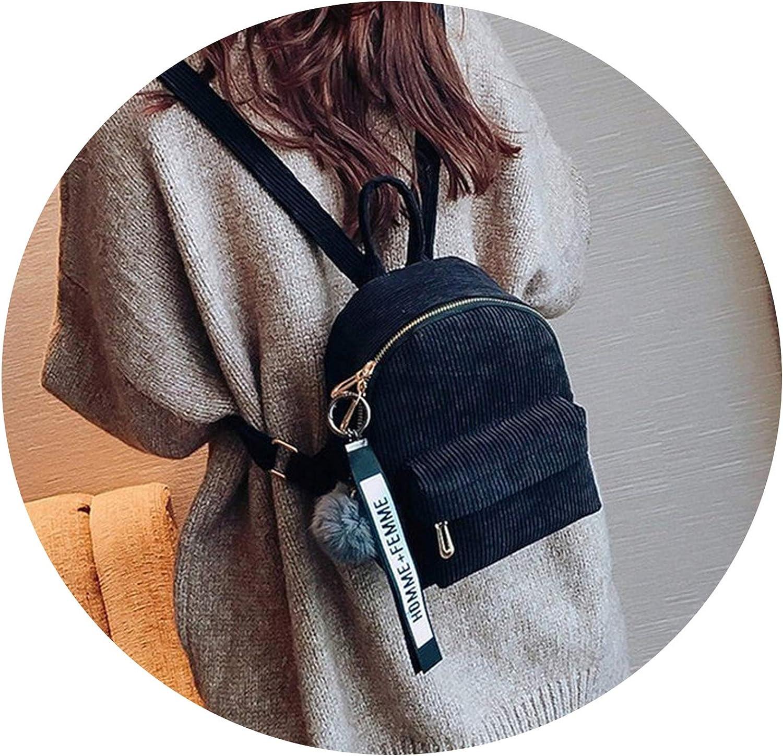Oasrs Mini mochila de pana para mujer, mochila para adolescentes ...
