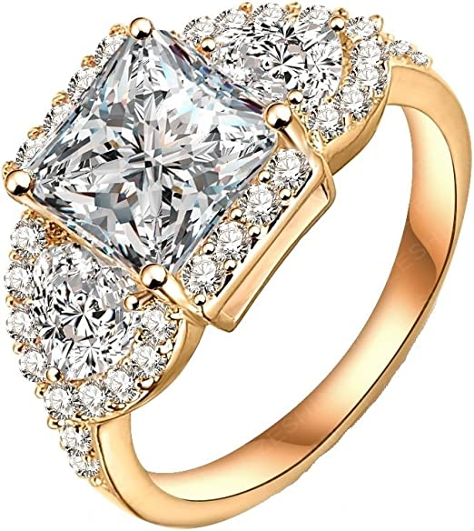Amazon Com The New Diamond Ring Gold Wedding Rings Cheap