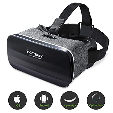 HAMSWAN 3D VR Brille für Handy, Video Movie Game Brille Virtuelle Realität Headset Kompatibel mit iOS, Android und anderen Ha