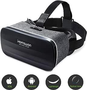 HAMSWAN Gafas de Realidad Virtual, [Regalos para Padre] 3D VR Peso ...