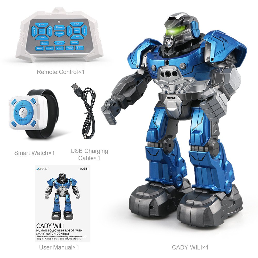 Gbell JJRC R5 Interactive RC Smart Robot with Walking Singing Dancing Auto-Follow Gesture Sensor Robot Toys with Two Control Modes Gifts for Kids Boys Girls (Blue) by Gbell (Image #6)