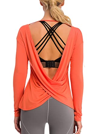 Amazon.com: Muzniuer Camisas de manga larga para mujer, sin ...
