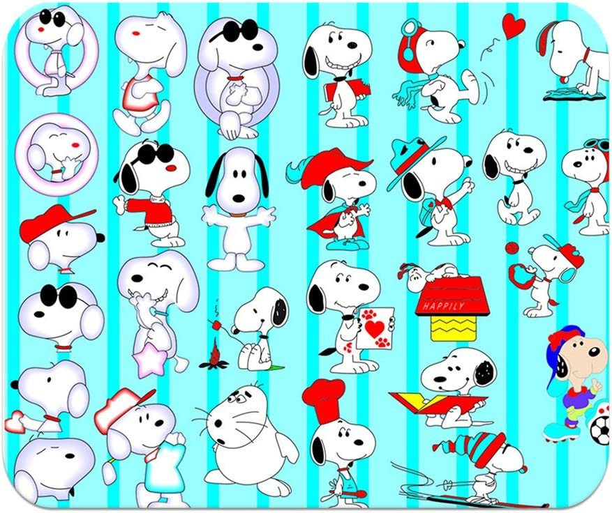 LJX Snoopy Pattern Mousepad Anti-Slip Comfort Mouse Pad 200x240mm #09