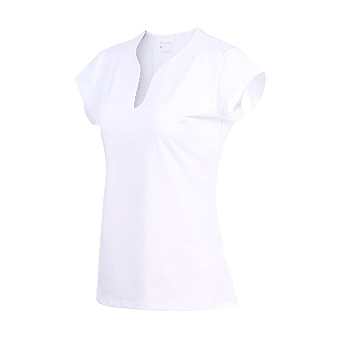 3774c19131b8 32e-SANERYI Women's V-Neck Pullover Short Sleeve Sports Shirts Quick-Drying  Tees
