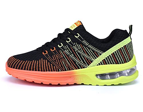Uomo Scarpe da Running Sportive Corsa Sneakers Ginnastica Outdoor  Multisport Shoes Nero Arancione 42 a18c3ace6d4