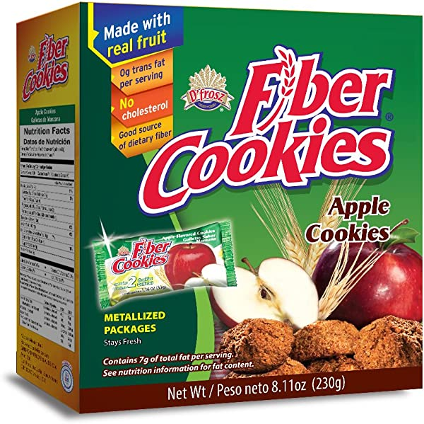 Cookies with fibers with natural fruit Good source of dietary fiber, no cholesterol, kosher, no trans fat