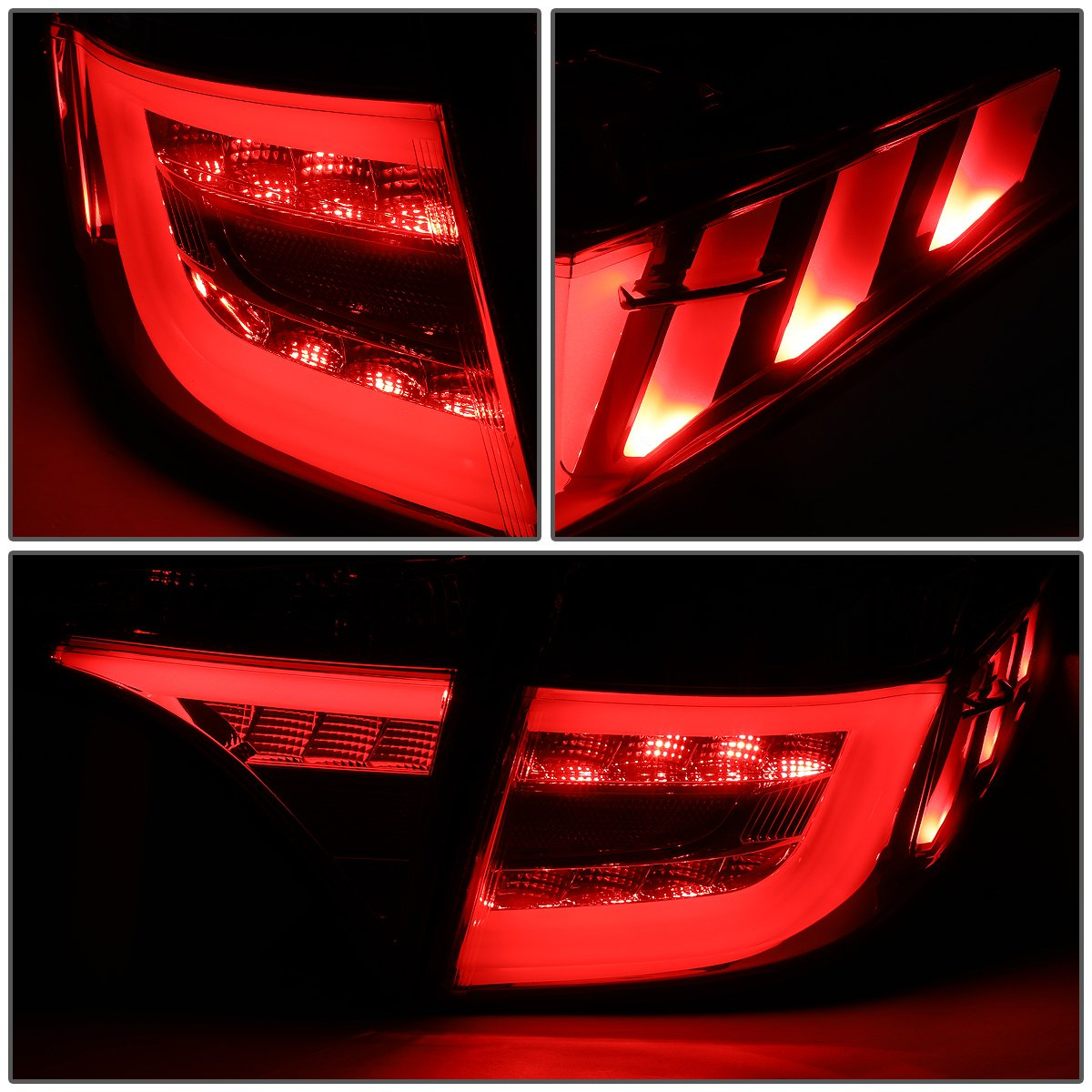for 14-18 Corolla Sedan DNA Motoring TL-001-SM-CL1 Pair LED DRL Light Bar Tail Lamps