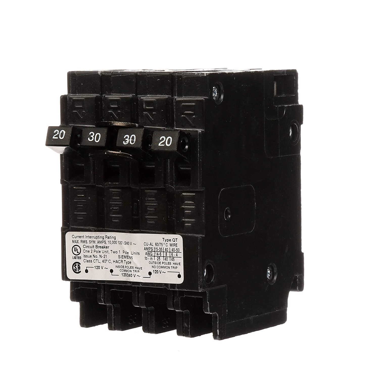 Hpm 20 Amp Plugin Circuit Breaker Bunnings Warehouse