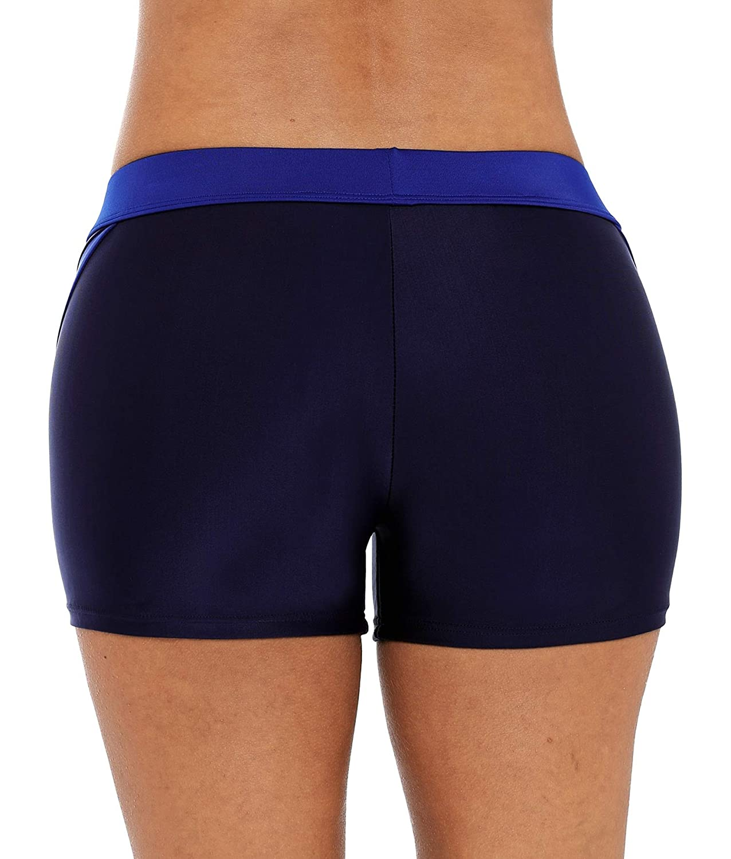 Vegatos Womens Boyleg Swim Shorts Sports Board Short Stretch Swimsuit Bottoms