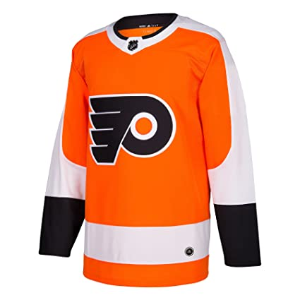 297bc1294 adidas Flyers Home Authentic Pro Jersey - Men s Hockey 44 Orange White Black