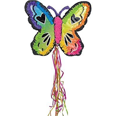 Ya Otta Pinata Neon Butterfly Mexican Style Birthday or Pool Party Supplies | Full Sized for Chocolate, Candy Filling | Celebrations, Parties, Cinco de Mayo, Fiestas: Toys & Games