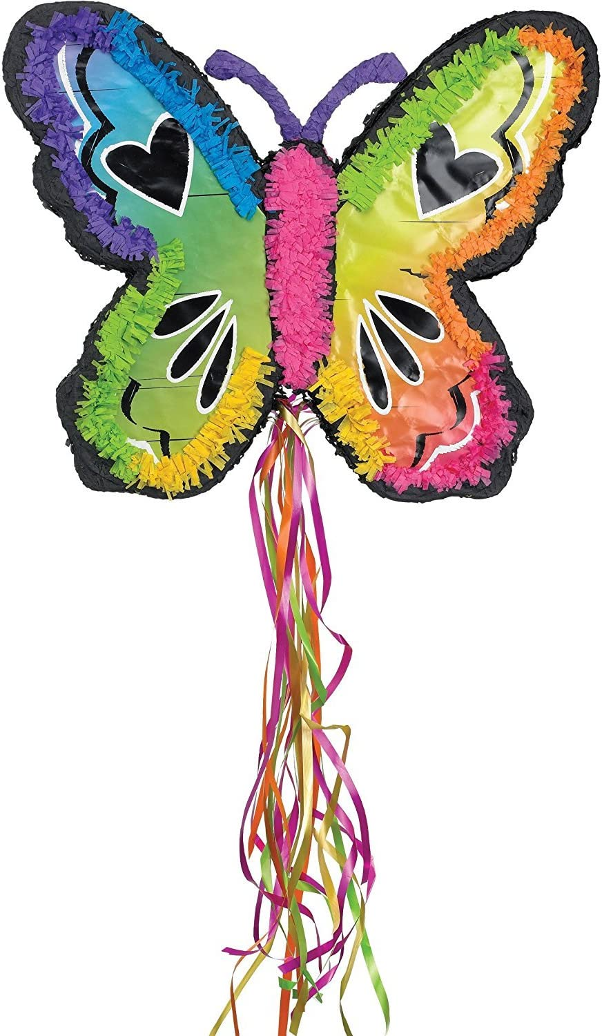 Ya Otta Pinata Neon Butterfly Mexican Style Birthday or Pool Party Supplies | Full Sized for Chocolate, Candy Filling | Celebrations, Parties, Cinco de Mayo, Fiestas