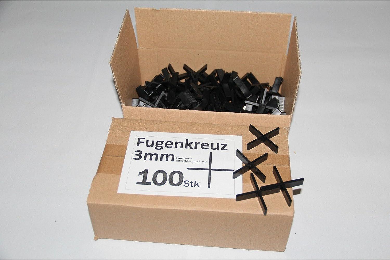 Fugenkreuze 3mm, Bauhö he 10mm, 100 Stü ck im Karton B+B Plattenbeläge GmbH