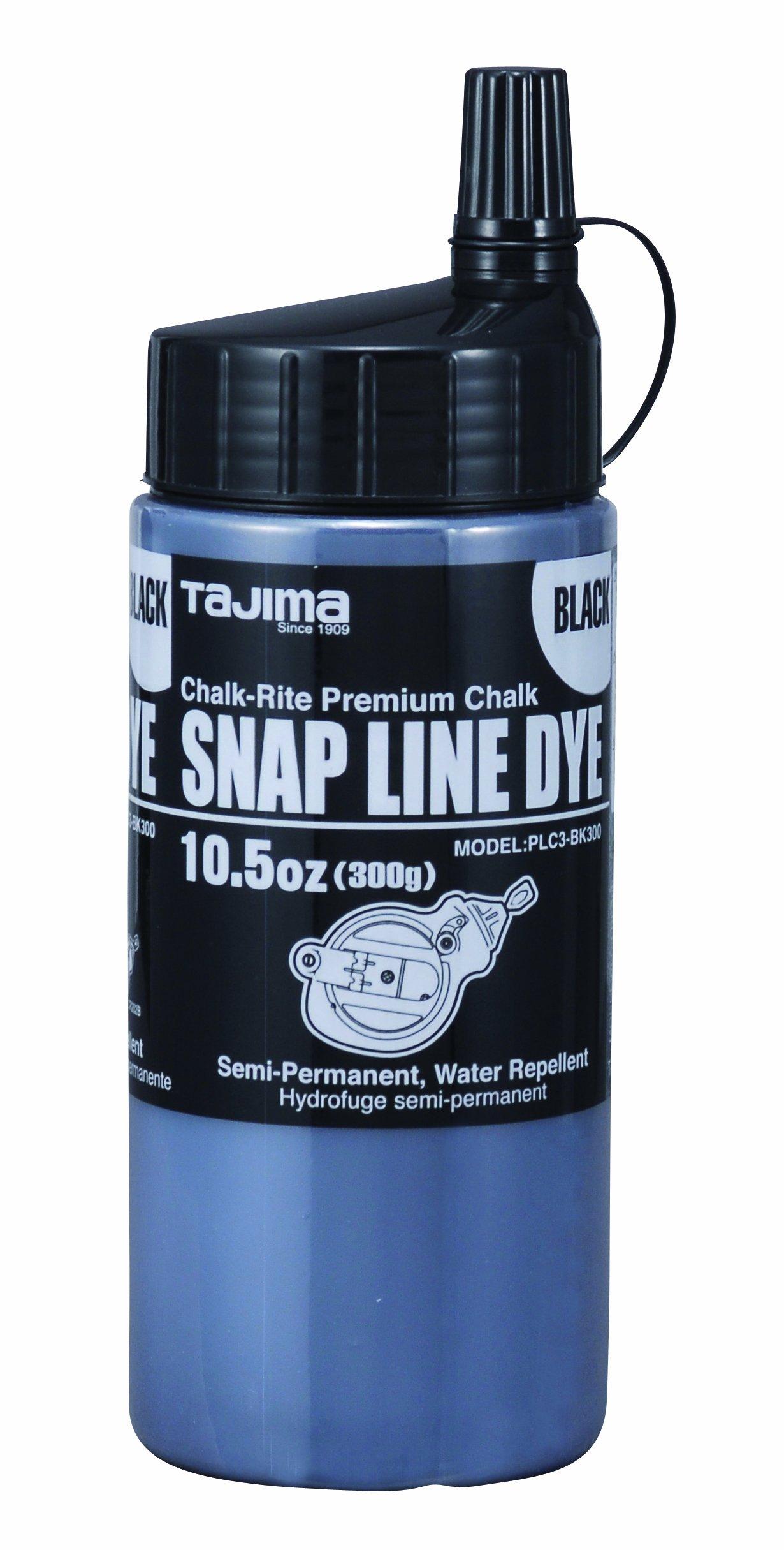 Tajima PLC3-BK300 Chalk-Rite 10.5-Ounce Snap Line Black Powder Dye