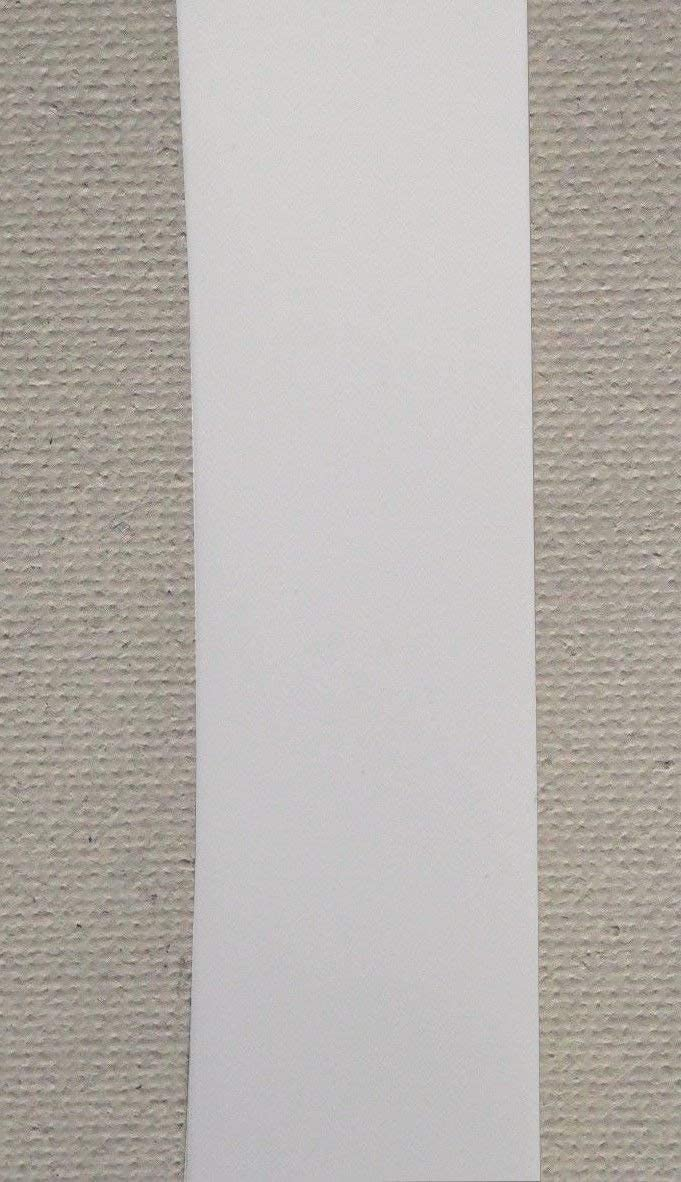 White 2 Wide 20 Length Chair Vinyl Strap Strapping for Patio Lawn Garden Outdoor Furniture Matte Finish Color /…